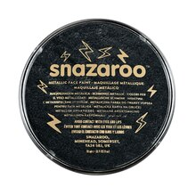 Snazaroo Face Paint Metallic Colors, Electric Black