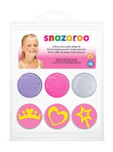 Snazaroo Face Paint Stamp Kit, Princess