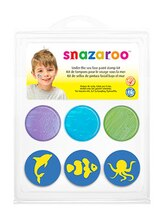 Snazaroo Face Paint Stamp Kit, Under The Sea