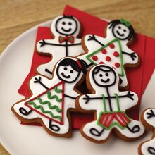 Gingerbread Family Cookies, medium