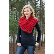 Loops & Threads® Charisma Tweed™ Buttoned Heather Knit Snood, medium