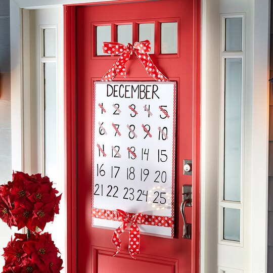 Christmas Countdown Door D Cor