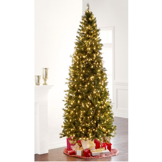 9 Ft Pre Lit Slim Willow Pine Artificial Christmas Tree Clear  - Artificial Christmas Tree 9 Ft