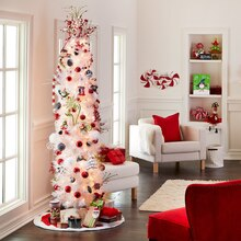 Whimsy 7' Decorated White Christmas Tree, medium