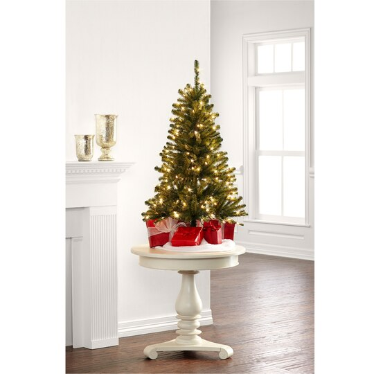 4 ft pre lit hillside pine artificial christmas tree clear lights by ashland - 4 Christmas Tree