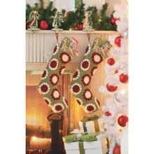 Loops and Threads® Impeccable™ Crochet Christmas Stockings, medium