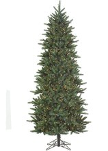9 ft. Pre-Lit Slim Fresh Cut Carolina Frasier Artificial Christmas Tree, Multicolor Lights