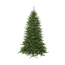 12 ft. Pre-Lit Frasier Fir Artificial Christmas Tree & Rolling Stand, Multi Lights