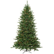 14 ft. Pre-Lit Frasier Fir Artificial Christmas Tree & Stand, Multi Dura-Lit Lights