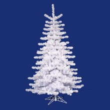 14 ft. Pre-Lit Crystal White Artificial Christmas Tree, Multicolored Lights