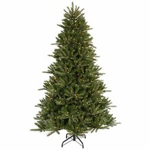 9.5 ft. Pre-Lit Vermont Fir Instant Shape Artificial Christmas Tree, Clear Lights