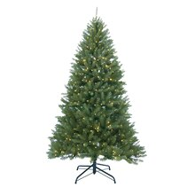 12 ft. Pre-Lit Essex Pine Medium Artificial Christmas Tree, Clear Lights