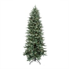 12 ft. Pre-Lit Washington Frasier Fir Slim Artificial Christmas Tree, Clear Lights