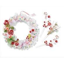 Whimsy White Christmas Wreath, medium