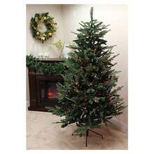 9 ft. Pre-Lit Grantwood Pine Artificial Christmas Tree, Multi Lights