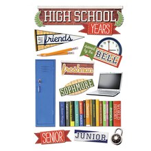 Paper House 3D Stickers, High School