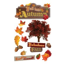 Paper House 3D Stickers, Fall into Autumn