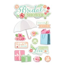 Paper House 3D Stickers, Bridal Shower