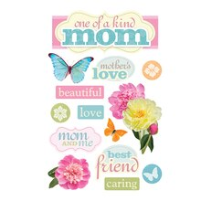 Paper House 3D Stickers, Mom