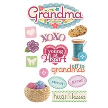 Paper House 3D Stickers, Grandma