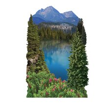 Paper House 3D Stickers, Mountain Lake