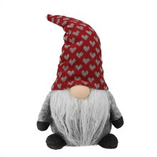 Plush Gray Gnome Friend with Red Heart Cap