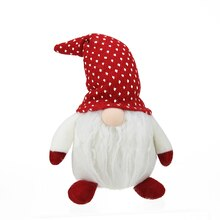 Plush White Gnome Friend with Red/White Polka Dot Cap