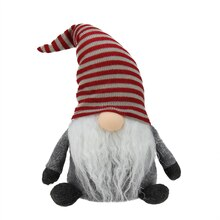 Plush Gray Gnome Friend with Red Stripe Cap
