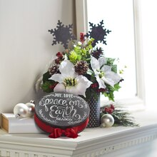 Cozy Lodge FloraCraft® Holiday Arrangement, medium