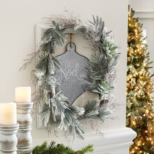 Cozy Lodge Open Frame Wreath, medium