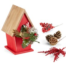 Cozy Lodge Birdhouse, medium