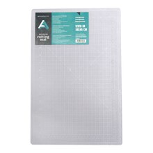 "Art Alternatives Self-Healing Cutting Mat, Clear 12"" x 18"""
