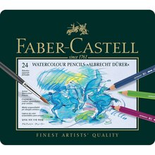Faber-Castell Albrecht Durer Watercolor Pencil Set, 24-Pencil Tin Set