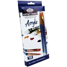 Royal & Langnickel Artist Paint Pack, 12 Color Acrylic Set