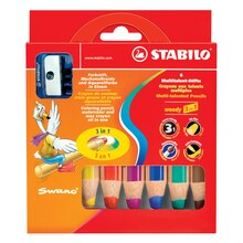 STABILO Woody 3-in-1 Set,  6 Colors