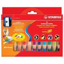 STABILO Woody 3-in-1 Set, 10 Colors