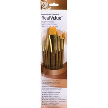 "Princeton Art & Brush Co. RealValue Golden Taklon Brush Set With 3/4"" Wash"