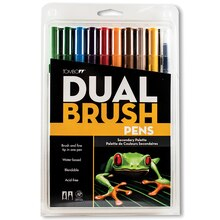 Tombow Dual Brush Pen 10-Pen Set, Secondary