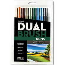 Tombow Dual Brush Pen 10-Pen Set, Landscape