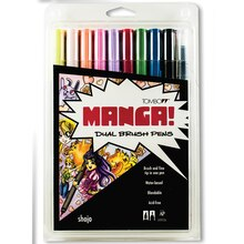 Tombow Dual Brush Pen 10-Pen Set, Manga Shojo