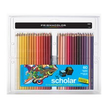 Prismacolor Scholar Colored Pencil Set, 60 Color Set