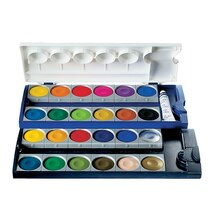 Pelikan Opaque Pan Watercolor Set. 24 Pans