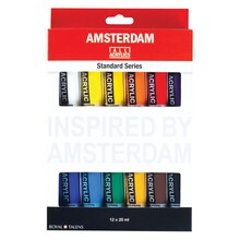 Amsterdam Standard Series Acrylic Paint, 12 Color Set