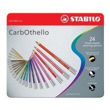 Stabilo CarbOthello Pastel Pencil Set, 24 Colors