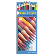Primacolor Col-Erase Erasable Colored Pencil Set, 12 Colors