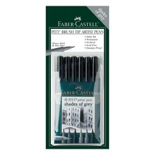 Faber-Castell PITT Artist Brush Pen Set, Shades of Gray