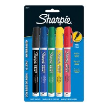 Sharpie Water-Based Paint Markers, Fine Point Basic Set