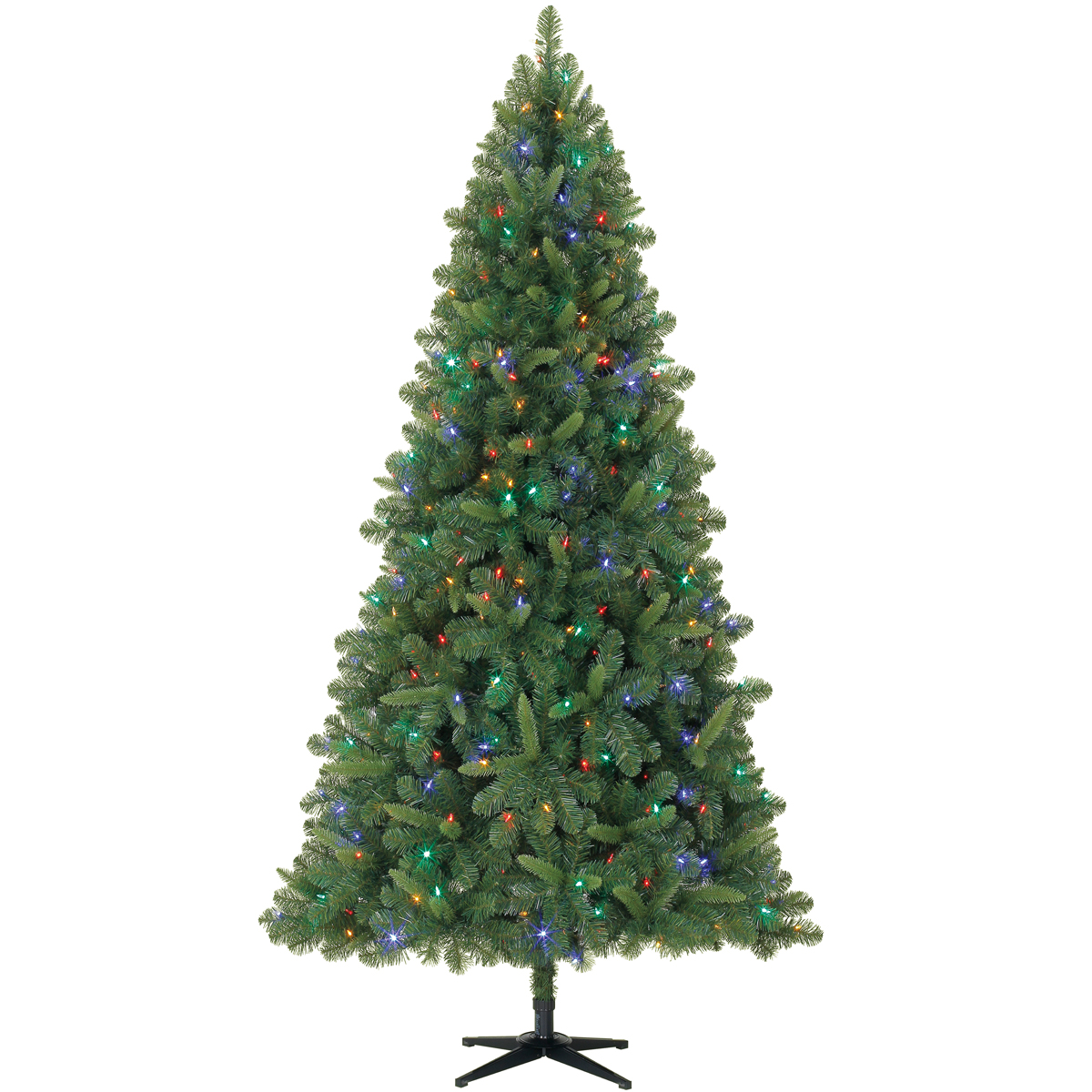 7.5 Ft. Pre-Lit Green Full Kensington Pine Artificial Christmas ...