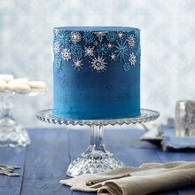 Snowfall Celebration Buttercream Cake, medium