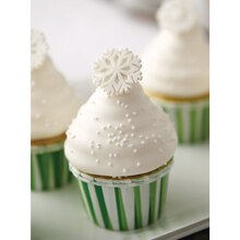 Christmas Candy-Dipped Cupcakes With Sparkling Snowflakes, medium